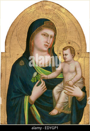 Giotto, Italian (probably 1266-1337), Madonna and Child, probably 1320-1330, tempera on panel - Stock Photo