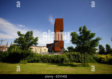 wide shot of Broadcasting Tower in Leeds - Stock Photo
