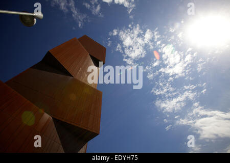shot of Broadcasting Tower against a blue sky - Stock Photo