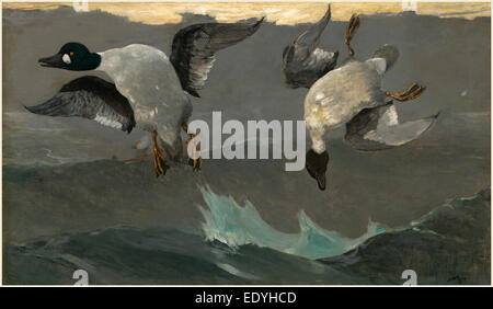 Winslow Homer, Right and Left, American, 1836-1910, 1909, oil on canvas - Stock Photo