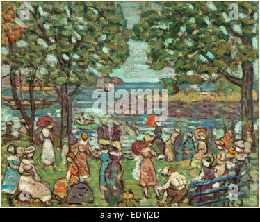 Maurice Brazil Prendergast, Salem Cove, American, 1858-1924, 1916, oil on canvas - Stock Photo