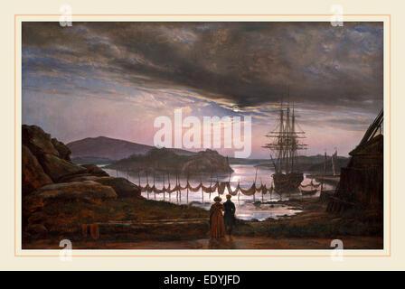 Johan Christian Dahl, Norwegian (1788-1857), View from Vaekero near Christiania, 1827, oil on canvas - Stock Photo