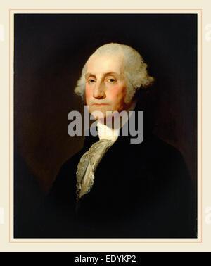 Gilbert Stuart, George Washington, American, 1755-1828, c. 1803-1805, oil on canvas - Stock Photo