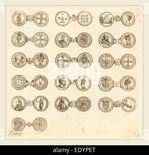 Jacques Callot, French (1592-1635), Coins [plate 10], etching - Stock Photo