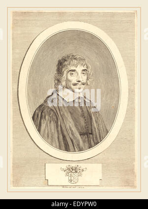 Claude Mellan, French (1598-1688), Jean Perrault, 1632, engraving - Stock Photo