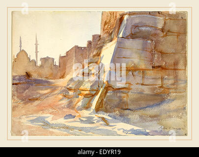 John Singer Sargent, Cairo, American, 1856-1925, 1905, watercolor over graphite on wove paper, Egypt - Stock Photo