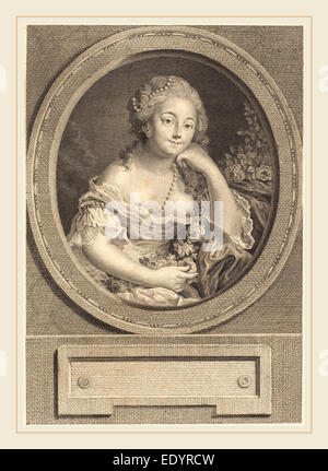 Juste Chevillet after Pierre-Antoine Baudouin, French (1729-1790), Le leger vetement, 1779, engraving and etching - Stock Photo