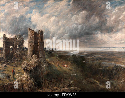 Hadleigh Castle, The Mouth of the Thames--Morning after a Stormy Night Hadleigh Castle, John Constable, 1776-1837, - Stock Photo