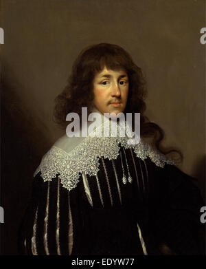 Portrait of a Man, probably Sir Francis Godolphin Sir Francis Godolphin Signed and dated, lower left: 'CJ Fecit - Stock Photo