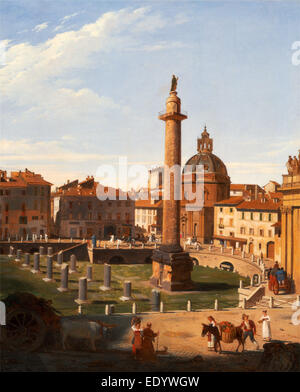A View of Trajan's Forum, Rome, Italy Charles Lock Eastlake, 1793-1865, British - Stock Photo