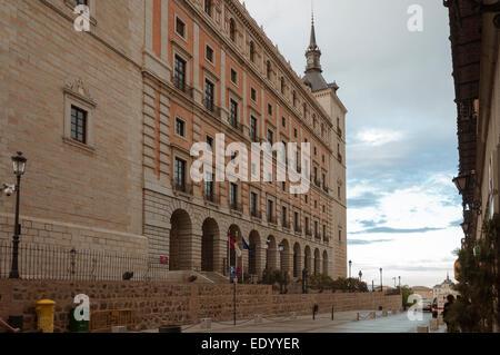 Alcazar Toledo Castilla the Mancha, Spain, - Stock Photo