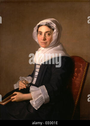 Mary Adam signed and dated 1754, Allan Ramsay, 1713-1784, British - Stock Photo