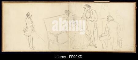 Soirée; Edgar Degas, French, 1834 - 1917; about 1877 - Stock Photo