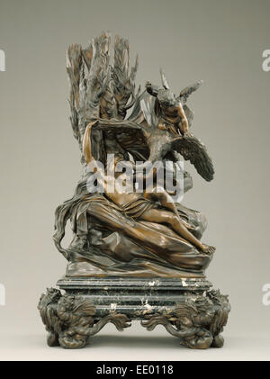 Leda and the Swan; Massimiliano Soldani-Benzi, Italian, 1656 - 1740; Italy, Europe; designed before 1717; cast about - Stock Photo