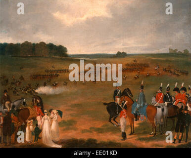 A Review of the London Volunteer Cavalry and Flying Artillery in Hyde Park in 1804 A Review of a Yeomanry Regiment - Stock Photo