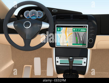 Navigation console for automobile. - Stock Photo