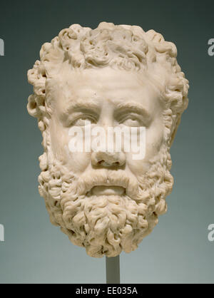 Portrait of a Bearded Man; Unknown; Greece (?), Europe; 200 - 225; Marble - Stock Photo