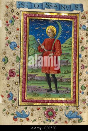 Saint Ossanus; Guglielmo Giraldi, Italian, active 1445 - 1489; Ferrara, Italy, Emilia-Romagna, Europe; about 1469; - Stock Photo