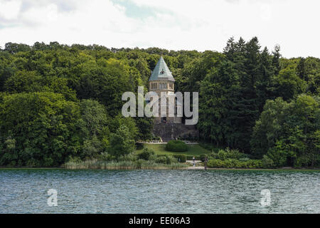 Votivkapelle in Berg am Starnberger See, Bayern, Oberbayern, Deutschland, Votive chapel at Lake Starnberg, site - Stock Photo