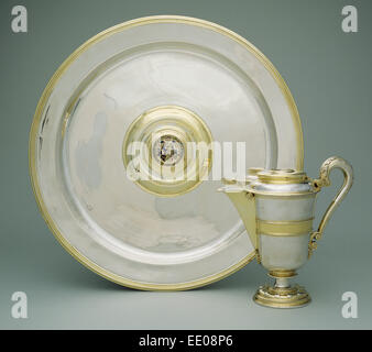 Ewer and Basin; Abraham Pfleger I, German, died 1605, active from 1558; n.d.; Gold and silver - Stock Photo