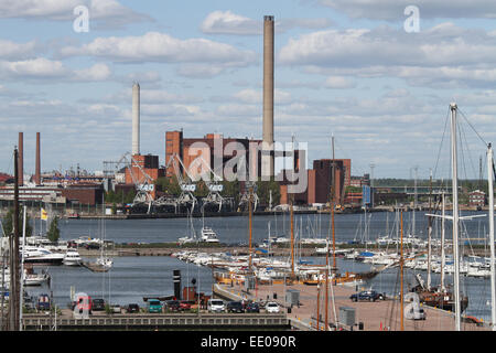View across the North Harbour in Helsinki - Stock Photo