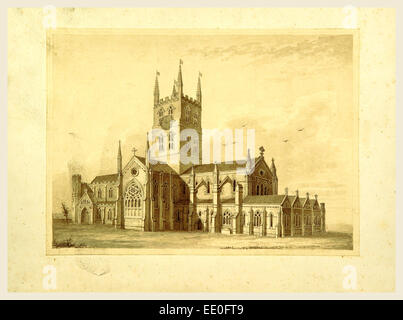 Annals of St. Mary Overy, 19th century engraving - Stock Photo
