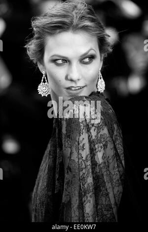 CANNES, FRANCE - MAY 14: Karlie Kloss attends the 'Grace of Monaco' premiere during the 67th Annual Cannes Film - Stock Photo