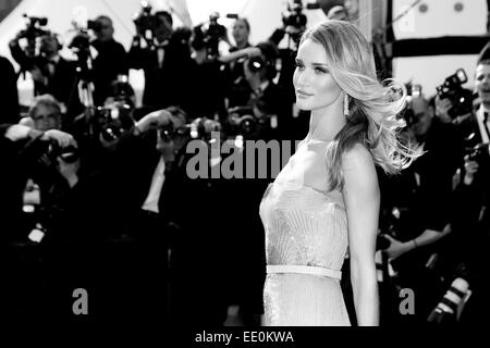 CANNES, FRANCE - MAY 21: Rosie Huntington-Whiteley attends the 'The Search' Premiere during the 67th Cannes Film - Stock Photo