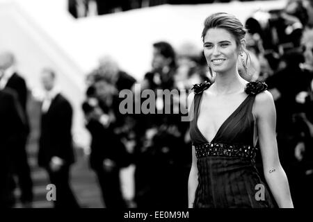 CANNES, FRANCE - MAY 23: Model Bianca Balti attends the 'Clouds Of Sils Maria' premiere at the 67th Annual Cannes - Stock Photo