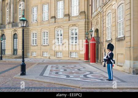 Amalienborg, The Queen's Winter Residence. Copenhagen, Denmark - Stock Photo