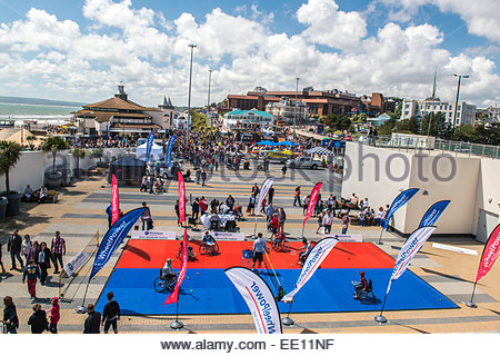 The inaugural Bournemouth Wheels Festival took place in May 2013. - Stock Photo