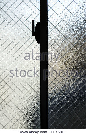 Detail Of Wire-Reinforced Glass Window Stock Photo: 96019556 - Alamy