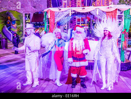 Winter parq show at the Linq in Las Vegas - Stock Photo