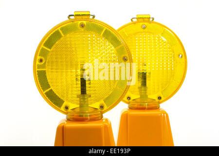 Gelbe Warnlampen, Baustellenabsicherung