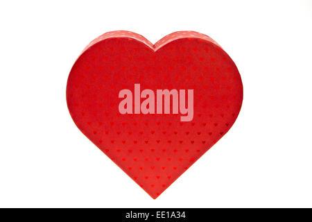Rotes Geschenkpäckchen in Herzform, Valentinstag, Red heart-shaped gift package, Valentine s Day, anniversary, bow, box, celebra