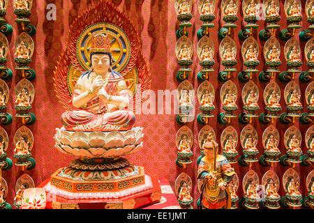 Vairocana Buddha statue, Buddha Tooth Relic Temple, Chinatown, Singapore, Southeast Asia, Asia - Stock Photo