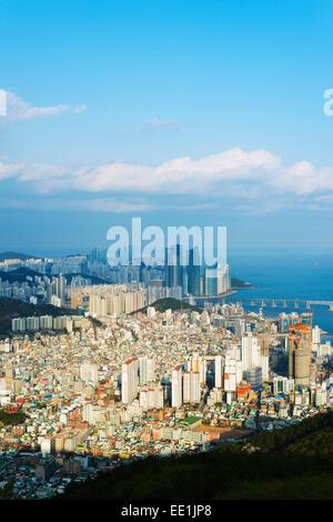 City skyline, Busan, South Korea, Asia - Stock Photo