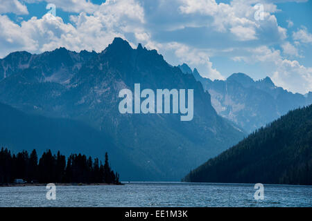 Redfish Lake in a valley north of Sun Valley, Sawtooth National Forest, Idaho, United States of America, North America - Stock Photo