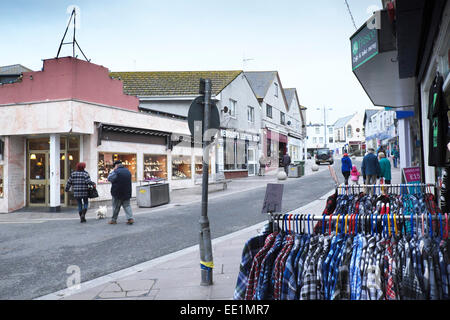 A cold winter's day in Newquay. - Stock Photo