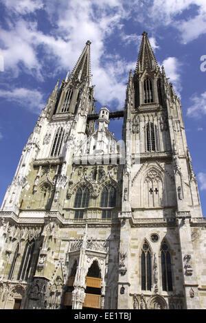 Regensburg, Dom St,  Peter, Domschatzmuseum, Unesco Welterbe, St,  Peters Cathedral, Bayerische Eisenstrasse, Strasse - Stock Photo
