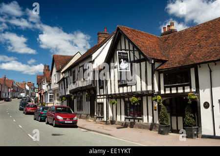 UK England, Suffolk, Lavenham, High Street, The Swan Hotel - Stock Photo