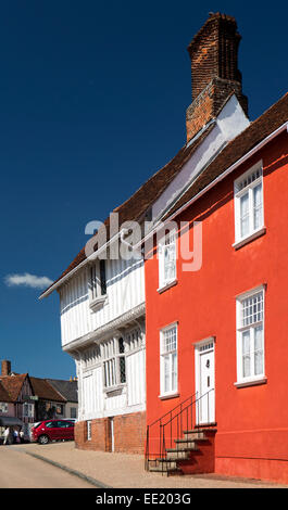 UK England, Suffolk, Lavenham, Lady Street, Guildhall of Corpus Christi - Stock Photo