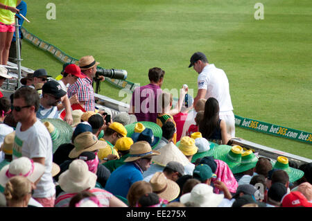 SYDNEY,AUSTRALIA - JANUARY 4: English cricketer Kevin Pietersen obliges autograph seekers in the 2nd day of the - Stock Photo