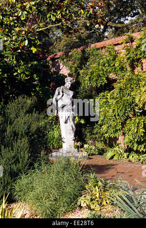 Garden Statue Of Greek God Pan Rhs Wisley Surrey Uk Stock