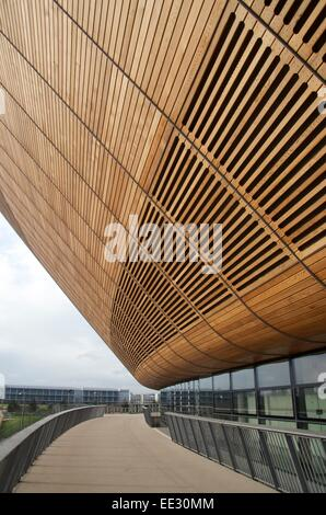 London Velodrome, Olympic Park, Stratford,London - Stock Photo
