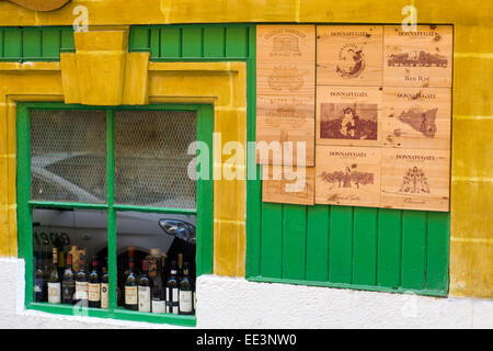 Brightly Colored Entrance to Café on the streets Malta - Stock Photo