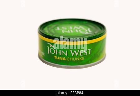 John West tuna chunks - Stock Photo