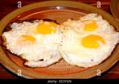 Sunny side up, Fried Egg - Stock Photo