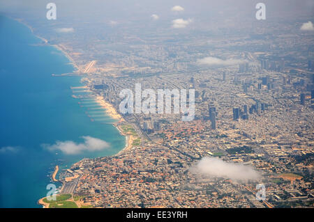 Tel Aviv- Jaffa Aerial view, Israel - Stock Photo