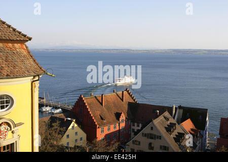 Deutschland, Bodensee, Europa, Oberschwaebische Barockstrasse, Stadt, Sehenswuerdigkeit, Tourismus, Meersburg, Deutsche - Stock Photo